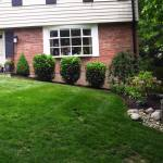 Big C Lawn and Landscaping - Mulch & Spring Cleanup w/ River Rock, 2014 - 1