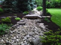 Big C Lawn and Landscaping - River Rock Drainage w/ Assorted Stones, 2014 - 24