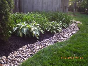 Big C Lawn and Landscaping - River Rock and Mulch - Spring Cleanup, 2015 - 90