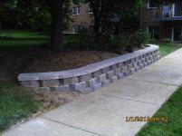 Big C Lawn and Landscaping - Diamond Block Retaining Wall, 2015 - 100